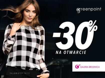 -30% na otwarcie salonu GREENPOINT