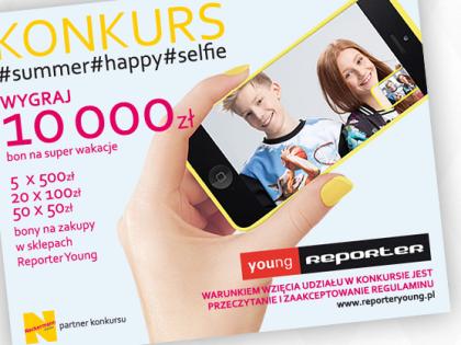 """Super konkurs """"Summer happy selfie""""  w Reporter Young!"""