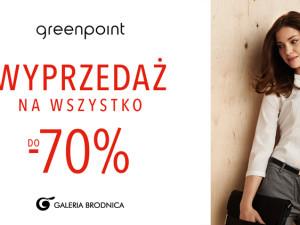 Wyprzedaż na wszystko do -70% w Greenpoint!