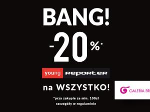 Rabat -20% na WSZYSTKO w Reporter Young