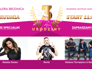 3-cie urodziny Galerii Brodnica już 3 grudnia!