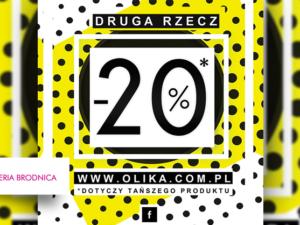 -20% na drugą rzecz w salonie Olika!