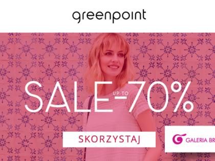 Sale up to -70% w salonie Greenpoint!