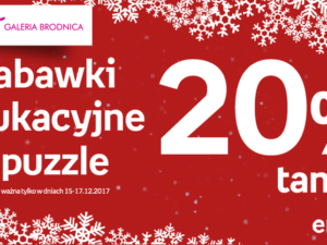 Zabawki edukacyjne i puzzle 20%!