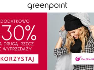 Greenpoint -30% na drugą, tańszą rzecz z wyprzedaży!