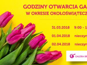 Wielkanocne godziny otwarcia Galeria Brodnica 🌷