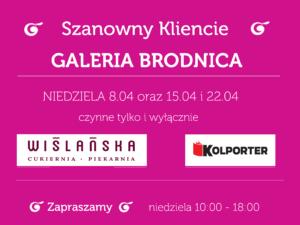 Niedzielne godziny otwarcia Galeria Brodnica