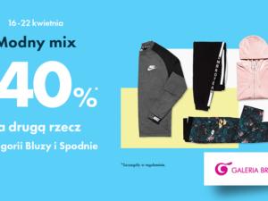 Modny mix! -40% na drugą bluzę lub spodnie w 50 style!