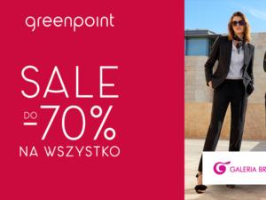 Wyprzedaż do – 70% na wszystko w Greenpoint!