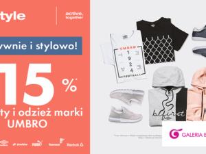 Aktywnie i stylowo!  -15% na obuwie i odzież marki Umbro