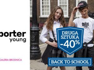 Back to school! -40% na drugą, tańszą sztukę z Nowej Kolekcji Jesień/Zima 2019.