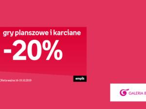 -20% Gry planszowe i karciane w Empik
