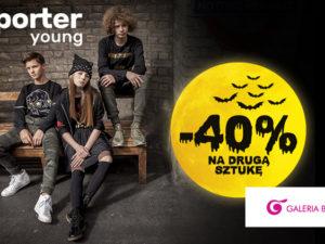 -40% na drugą, tańszą sztukę z Nowej Kolekcji reporter young