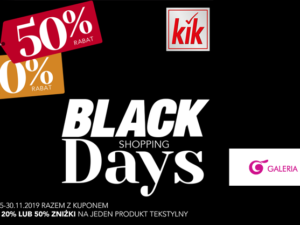 Black Shopping Days w KiK!