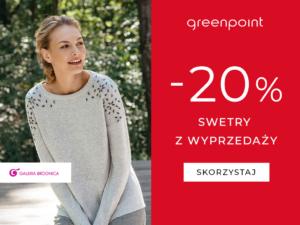 Swetry z wyprzedaży -20% w greenpoint