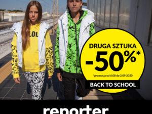Back To School! Rabat -50% na drugą rzecz w Reporter Young