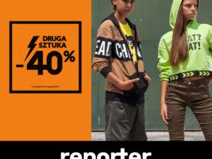 Rabat -40% na drugą rzecz w Reporter Young