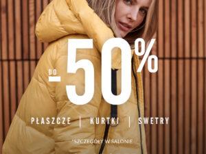 Do -50% w Top Secret na płaszcze, kurtki i swetry