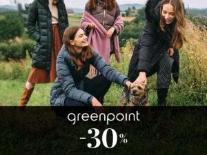 -30% w Greenpoint na WSZYSTKIE kurtki, płaszcze oraz dodatki zimowe