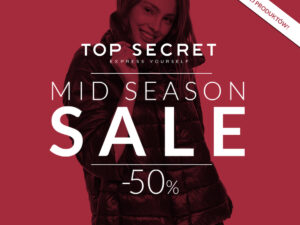 -50% Mid Season SALE w Top Secret