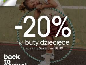 Rabat 20% na buty dziecięce