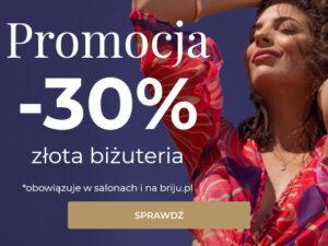 -30% na złotą biżuterię w Briju