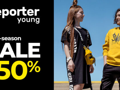 Mid Season Sale do -50% w Reporter Young